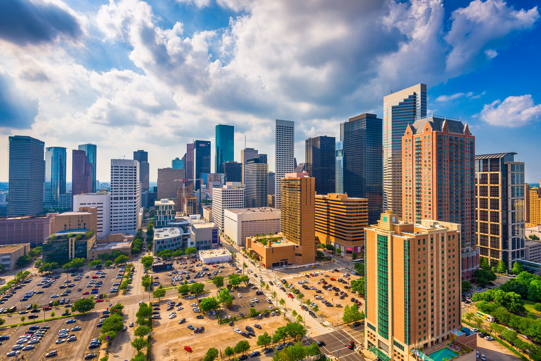 commercial properties in houston with window film installed